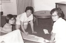 Grandma, Aunt, MM making graduation dress