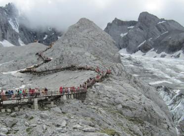 15,000 feeet high on Jade Dragon Snow Dragon Mountain outside Lijiang
