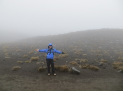 Tongariro hike: Mt Doom shrouded behind mist
