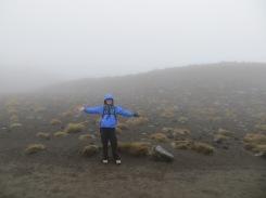 Tongariro hike: Mt Doom shrouded behind mist