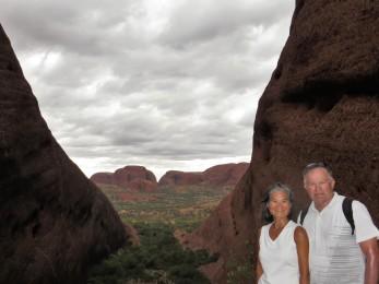 Hidden gorge at Kata Tjuta