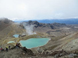 Emerald lakes at Tongariro Alpine Crossing