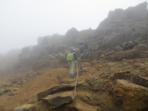 Tongariro Alpine Crossing with some chain help