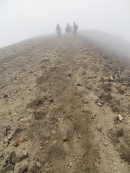 Tongariro Alpine Crossing near the peak