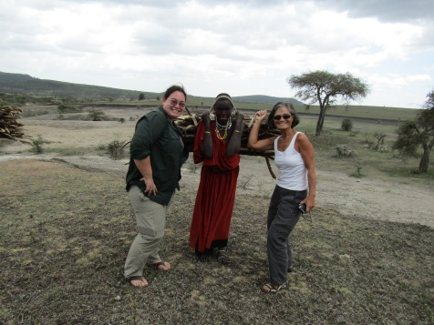 This Maasai posed with us for $2, then giggled like mad afterward.
