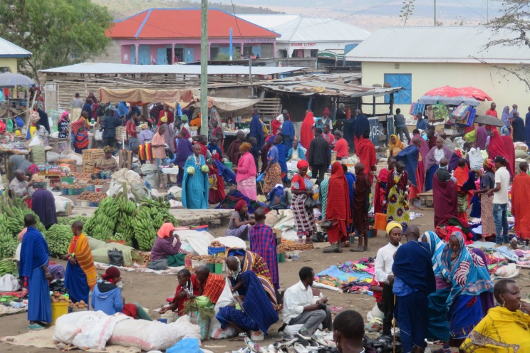 A Maasai market on New Year's Day.