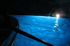 Blue grotto, lit by tiny cave opening