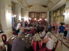 Uniworld Princess guests hold our own farewell at the New York Palace in Budapest, Hungary