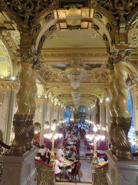 Scrumptious cafe at the New York Palace in Budapest, Hungary