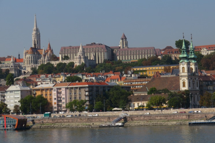 Views of Buda from the Pest side of Budapest Hungary