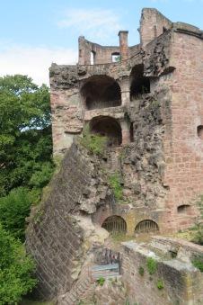 Delightful Heidelberg castle's fallen tower.