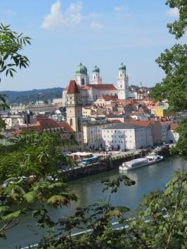 Lovely Passau, where three rivers converge