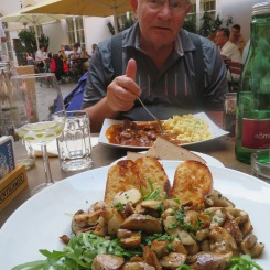 Vienna, Austria: fabulous goulash and mushrooms