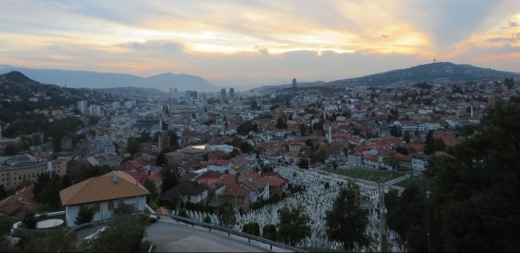 Sarajevo, Bosnia-Herzegovina, from the yellow fortress