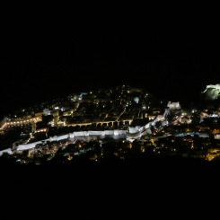 Dubrovnik at night from Fort Imperial