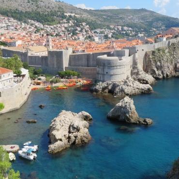 Spectacular walled Dubrovnik, Croatia