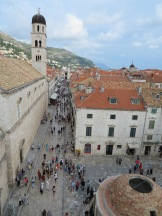 Main street Dubrovnik from the wall