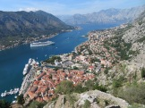 Kotor, Montenegro from the mile-high fortress with 1,350 steps