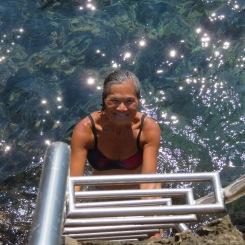 Enjoying the Adriatic at Lokrum island off Dubrovnik, Croatia