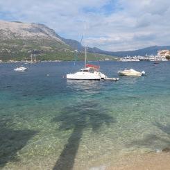 Transparent Adriatic in Korcula, Croatia