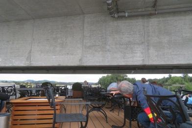 Low bridges limited sun deck viewing.