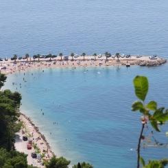 Bacvice beach at Split, Croatia