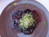 Zagreb, Croatia: blueberry and pepper steak at Laterna Dolca