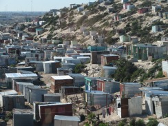 Shantytown or township outside Cape Town