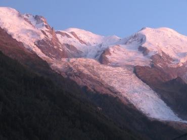 Mont Blanc, Aiguille du Midi, Bossons glacier, Chamonix, France