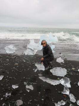 Jökulsárlón Glacial Lagoon's diamond beach