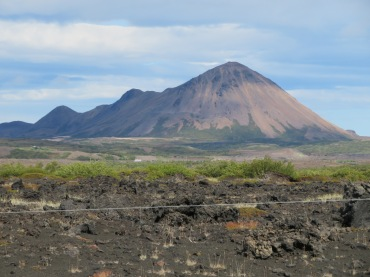 Hverfjall volcanic crater Iceland