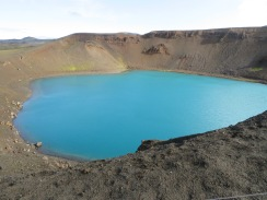 Mt. Krafla's Viti crater lake Iceland